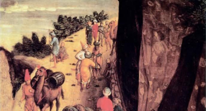 L'adoration des Mages (détail) du peintre italien Andrea Mantegna (1431-1506).  © G Dagli Orti, Paris