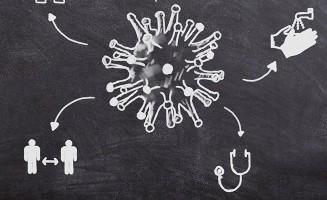 Coronavirus en pizarron