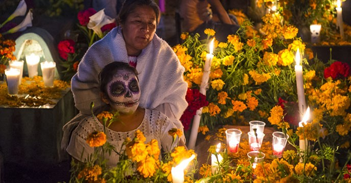 Resultado de imagen para dia de muertos indigena