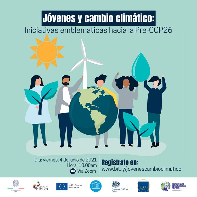 Encuentro Jóvenes y cambio climático: iniciativas emblemáticas hacia la Pre-COP26